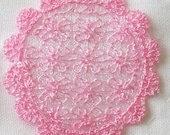 Pink Lace Doily - Embroidered Lace Scale Miniature