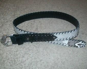 Cobra Snake Skin Belt