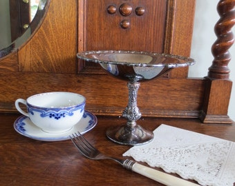Silver Serving Bowl- with pedestal silver plate