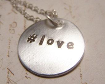 Hashtag Love Necklace. Instagram. Twitter. Friendship. Love