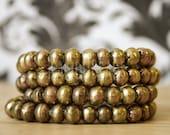 Rustic Handmade Brass 8mm beads 11x8mm