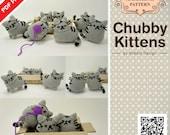 PDF Pattern - Amigurumi Chubby Kittens