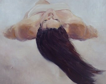 Above Me Below Me, an oil painting