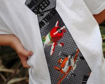 Disney Planes Tie shirt / you choose color shirt