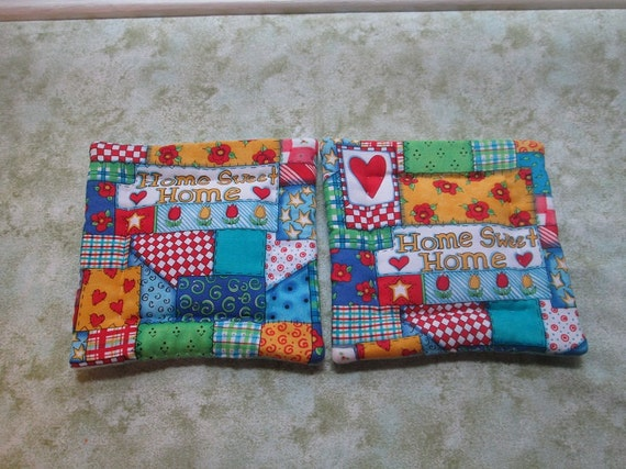 home sweet home set of 2 potholders hot pads