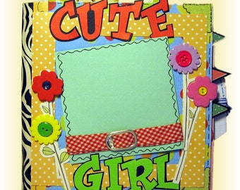 Cute Girl Mini Scrapbook Album for Birthday, Friendship, any Occasion