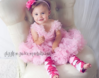 Pink and White Argyle Baby Leg Warmers