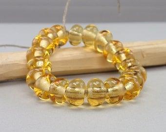 25 % off - 20 Spacer - Week - Handmade Lampwork Beads - S 2