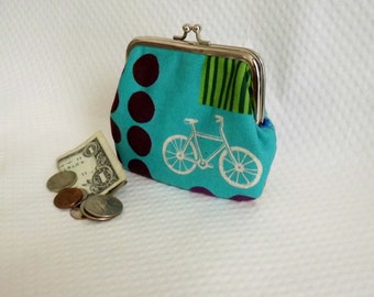 Coin purse - Change Purse - Bicycle Coin Purse