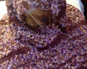 Bronze, Mauve & Gold Lace Knitted Wrap