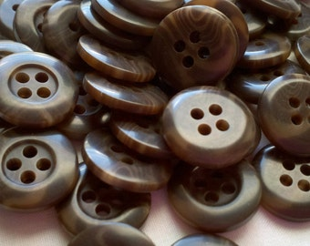 "Brown Multi Colored BULK Buttons - 9/16"" (15mm) - YOU PICK Quantity - 50 - 700"