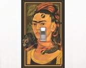1556a  Frida Kahlo  Mrs Butler Switchplate (Choose size/price from dropdown)
