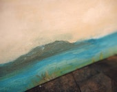 Caribbean Seascape Painting Sky Original Art Landscape Canvas  - Caribbean Shore.