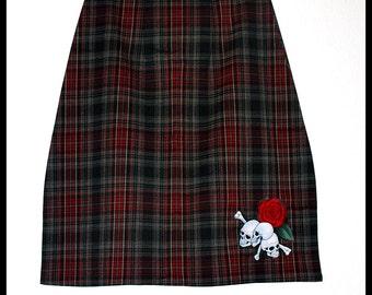 Skulls n Roses Rockabilly Pencil Skirt ...... Size S,L, XL