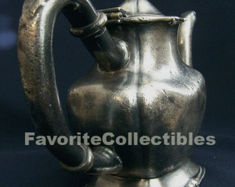 Victorian Unique Teapot Numbered Signed Rogers Pewter 1906 Patent Hallmarked OOAK Period Piece FavoriteCollectibles