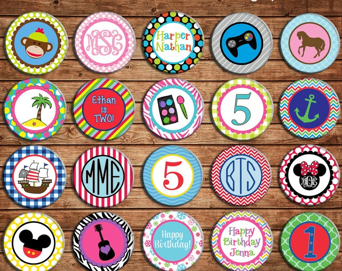Personalized Boy / Girl / Birthday / Shower  Printed Cupcake Toppers - NOT CUT or ASSEMBLED - Made to match any of my invitations