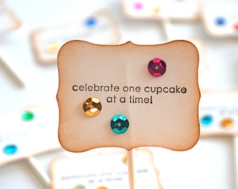Celebrate One Cupcake at a Time - Cupcake Toppers/Party Sticks