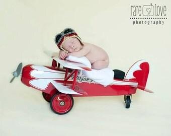 Boy Aviator Hat, Baby Boy Hats, 2T-4T, Crochet Baby Hat, Aviator Hats