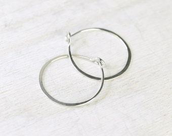 Ophelia handmade earrings sterling silver tiny round hoops
