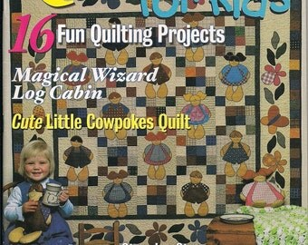 Quilting Magazine, Quilt It for Kids, 2002 Back Issue, childrens quilt, patchwork, applique, quilt patterns, cowpoke quilt, 16 projects