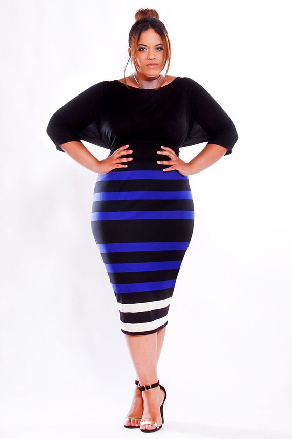jibri plus size high waist pencil skirt by jibrionline on etsy