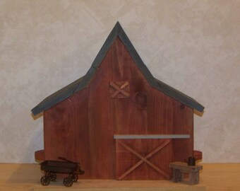 Red Barn Two Compartment  Birdhouse