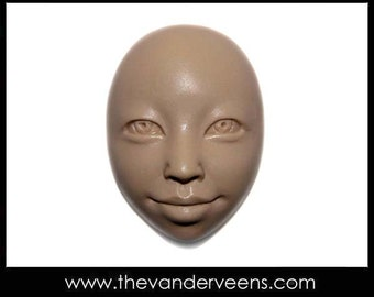 Mold No.84 (Face- African looking with opened eyes) by Veronica Jeong
