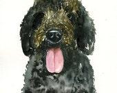 CUSTOM PET PORTRAIT-Original watercolor painting 8X10inch