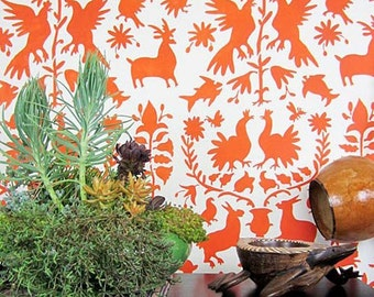 Otomi Stencil Pattern - Reusable stencils for  DIY wall decor - better than wallpaper!