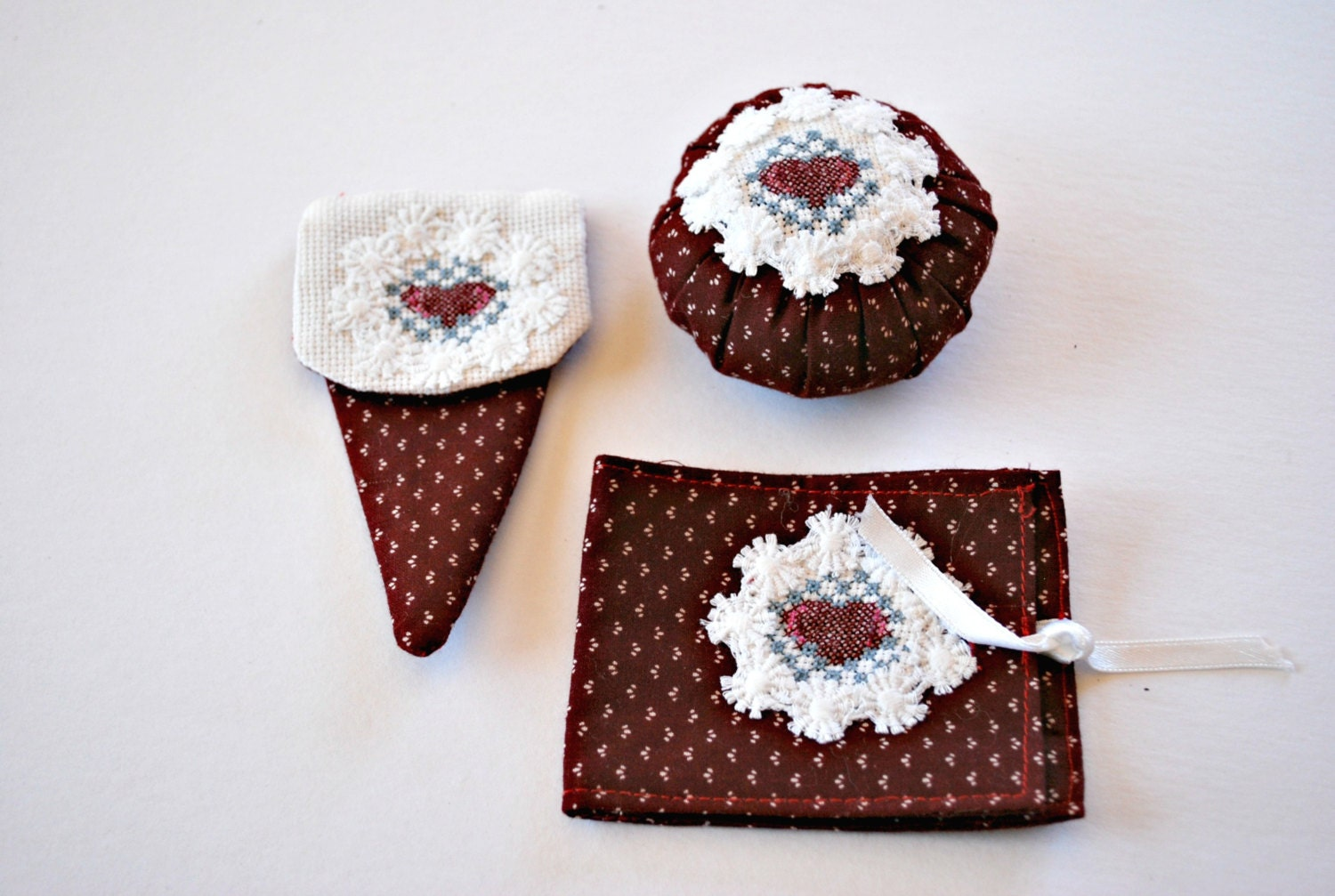 Heart sewing kit craft supplies and tools sewing and for Sewing and craft supplies