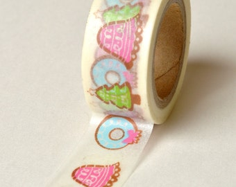 Washi Tape - 15mm - Christmas Pastel Designs - Deco Paper Tape No. 788