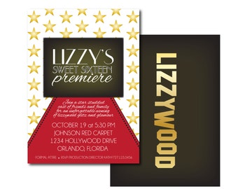 Hollywood Glamour - DIY PRINTABLE invitation