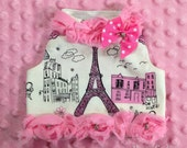 Paris Passion Custom Couture Dog Harness Vest Shirt by Doogie Couture
