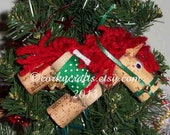 Wine Cork horse Christmas ornament/gift tag
