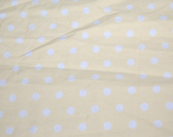 Robert Kaufman Pale Butter Yellow Dumb Dot Polka Dot Fabric 1 yard Boutique Retro