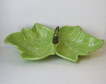 Apple Green Candy Dish, 1960's