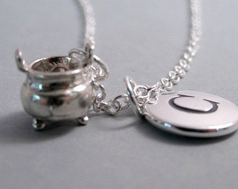 Witch Cauldron Silver-Plated Charm Jewelry Supplies