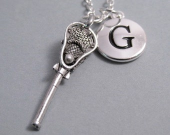 Lacrosse Stick Charm Silver Plated Lacrosse Charm Charm Supplies Supplies