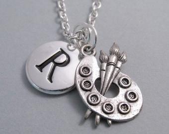 Artist Palette Charm Silver Plated Charm Art Student Charm Art Charm Supplies