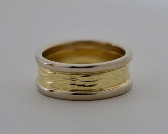 Tree Bark Wedding Bands, Made in Maine