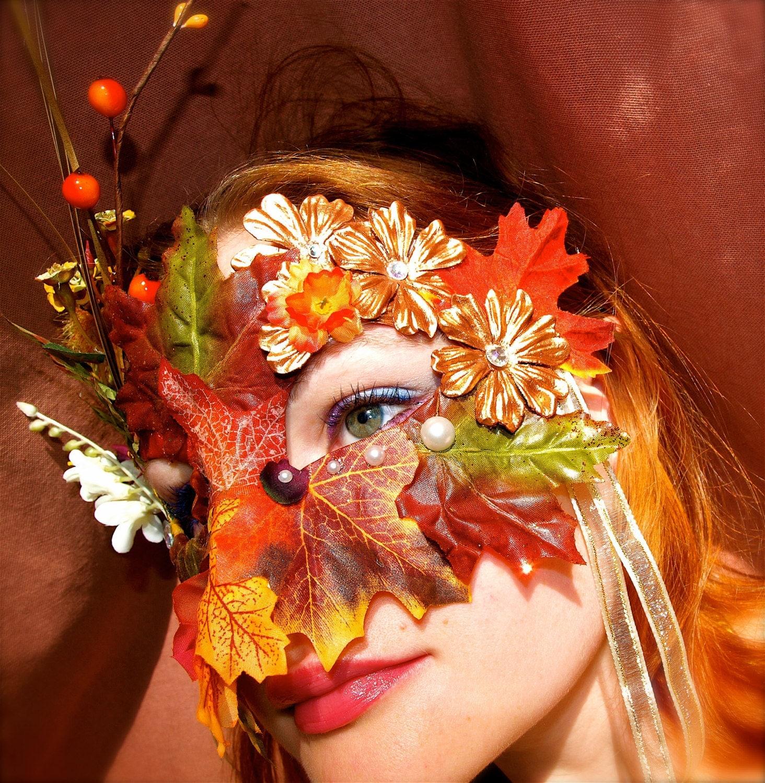 Fairy Mabon Autumn Mask Halloween