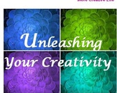 e-Book pdf - 50 Page e book  - UNLEASHING YOUR CREATIVITY Get in Touch with your Creativity / Stress Buster by Isabelle Debrosse Hardesty