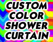 Custom Color Shower Curtain Pattern Design Bathroom Decor Kids Bath Size Personalized Monogrammed