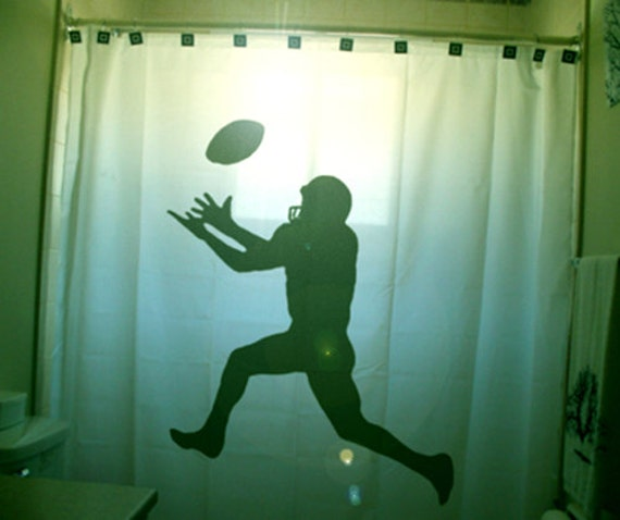 Football Shower Curtain Kids bathroom decor bath field goal kicker ...