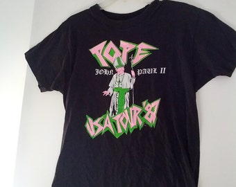 Pope John Paul II usa tour shirt tshirt grunge 1987 80s eighties boho