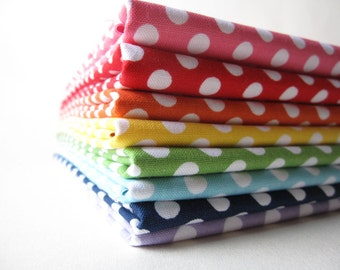 Small Dots Fat Quarter Bundle - Fabrics by Riley Blake Designs -  8 FQs 2 Yards Total