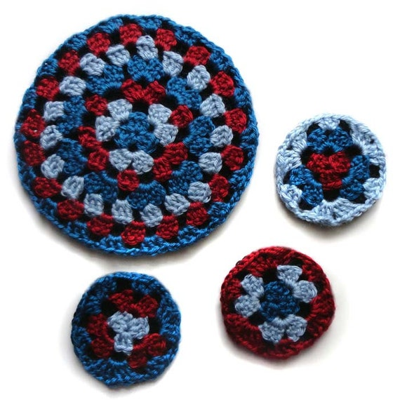 Round Granny Coaster And Trivet Set Pdf Crochet Pattern