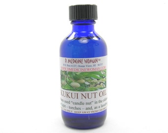 Natural Kukui Nut oil from Big Island of Hawaii skin care and carrier oil 2 oz.
