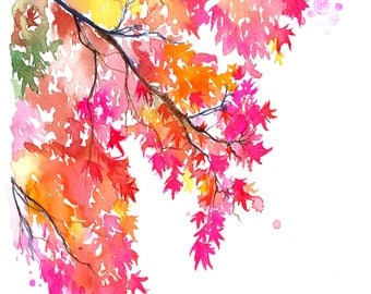 Georgia Autumn, print from watercolor painting by Jessica Durrant