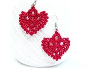 Tutorial Crochet Pattern, Dangle Earrings, Tutorial Pattern, DIY Crochet Earrings, Earrings Pattern, Crochet Jewelry, Tutorial Crochet